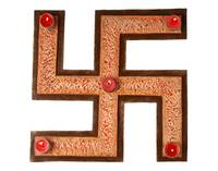 Swastik Rangoli Board with T-lite Holders