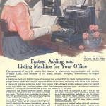 """OLD OFFICE MACHINE AD"" by homegear"