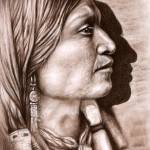"""Indianer Profil"" by ArtsandDogs"