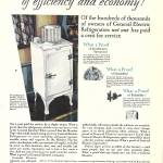 """1930 GE REFRIGERATOR AD"" by homegear"
