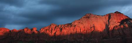 sunrise west temple zion national park