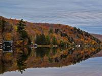 Reflection,Mirror Lake,Peak Fall Autumn Colors,Art