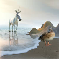 Unicorn at the Beach