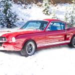 """Red Ford Mustang Shelby 1966"" by lightningman"