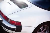 1987 White Porsche 911 Carrera Back End
