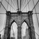 """Brooklyn Bridge Cables BW"" by KlementGallery"
