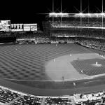 """Yankee Stadium BW Pan"" by KlementGallery"