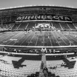 """Gophers Stadium BW Pan"" by KlementGallery"