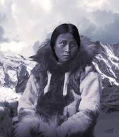 Portrait of an Inuit Woman