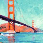 """Golden Gate Bridge San Francisco by Riccoboni"" by BeaconArtWorksCorporation"