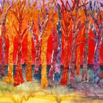 """Abstract Mixed Media Collage, Tree Tunes"" by schulmanart"