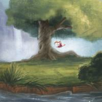 Swinging under a big tree Art Prints & Posters by Danielle Pioli