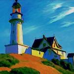 """Lighthouse Beach"" by WardArt"