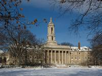 Old Main in the Winter
