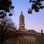 """Penn State Old Main at Dusk"" by williamames"