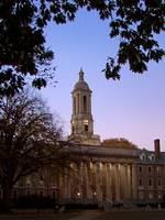 Penn State Old Main at Dusk