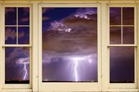 Double Lightning Strike Picture Window