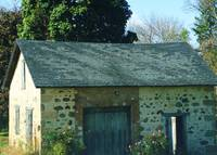 Stone cottage and roses