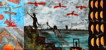 El Mundo Segun Minimi - SURREALIST Painting