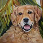 """Golden Retriever"" by donnabonavia"