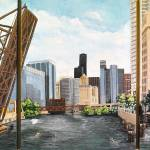 """Chicago Skyline Triptych"" by marypalmer"