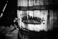 Jack Daniel's Whiskey Barrel: B/W