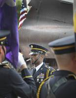Honor Guard Stands In Rain Dedication Maryland's 9