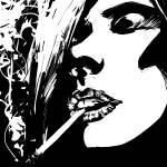 """She smokes"" by Comicbook"