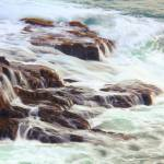 """Rocks awash in Atlantic Seas, Acadia National Park"" by RoupenBaker"