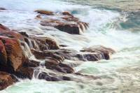 Rocks awash in Atlantic Seas, Acadia National Park