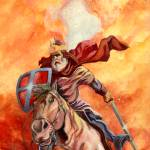 """Knight on horse"" by Comicbook"