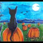 """Pumpkin patch Cats"" by paintingsbygretzky"