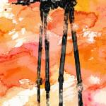 """At-At Watercolor Attack"" by davril"