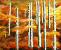 BIRCH TREES IN THE WOODS