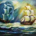 """""""Ships at Sea"""" by khatsart"""