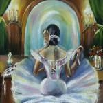 """Ballerina at mirror"" by khatsart"