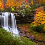 """Autumn at Dry Falls - Highlands NC Waterfalls"" by DAPhoto"