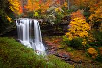 Autumn at Dry Falls - Highlands NC Waterfalls