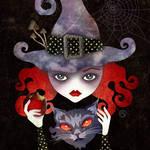 """Maelba, the Red Witch"" by sandygrafik_arts"