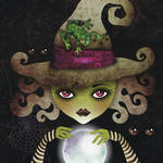 """Elphaba, the Wicked Witch"" by sandygrafik_arts"