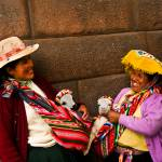 """Peruvian woman and their pets, Cusco"" by ileneperlman"