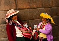 Peruvian woman and their pets, Cusco