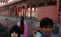 Children at Red Fort in Old Delhi, India