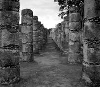 Chichen Itza Columns at Temple of 1000 Warriors
