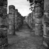 Chichen Itza Columns at Temple of 1000 Warriors Art Prints & Posters by krista minami