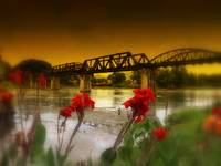 Infamous Bridge On The River Kwai