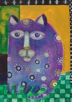 Serene Cat with Amethyst Eyes