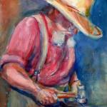 """A portrait a day 023 - blacksmith"" by YevgeniaWatts"