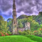 """HDR of church at Stourhead Gardens with follie"" by kindestsi"