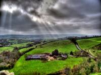 HDR looking out from Corfe Castle